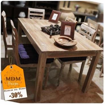 Conjunto mesa y sillas de madera