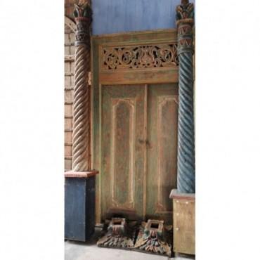 Puertas de madera de dos hojas
