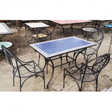 Mesa para jardín azul