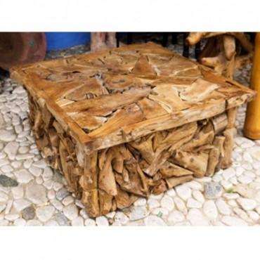 Mesa baja piezas de madera