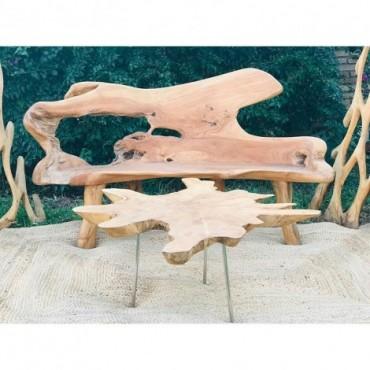 Conjunto de madera de troncos naturales