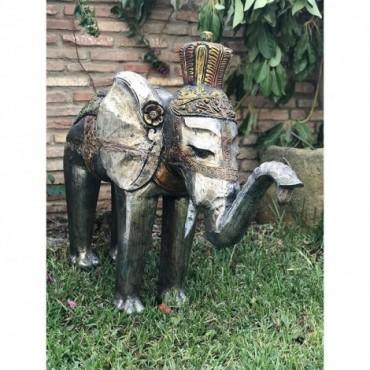 Elefante decorativo tonos grises