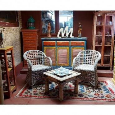 Conjunto 2 sillones y mesa