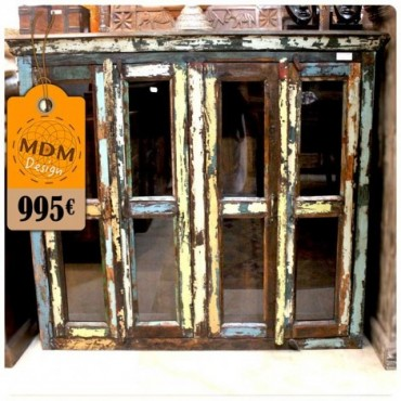 Mueble 4 puertas de cristal